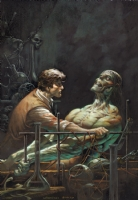 wrightson frankenstein Comic Art